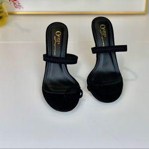 {RE-POSH @mtsdfigue} • Toe Ring Heel in Black